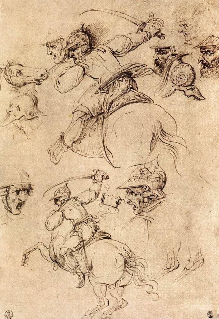 Leonardo_da_Vinci_Study_of_battles_on_horseback