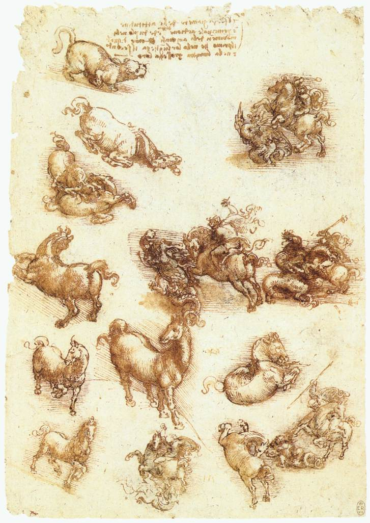 Leonardo_da_Vinci_Study_sheet_with_horses_and_dragons