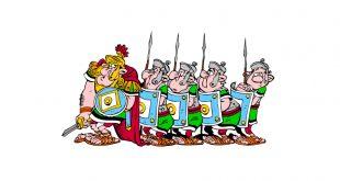 Asterix – Romalı Askerler Boyama Sayfası