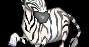 Sevimli Zebra Boyama Sayfası